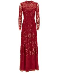 Needle & Thread - Aurora Sequin Gown - Lyst
