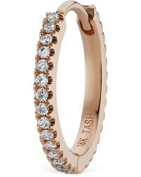 Maria Tash - Diamond Eternity Single Hoop Earring (11mm) - Lyst