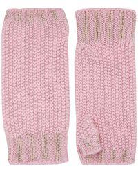 Harrods Cashmere Fingerless Gloves - Pink