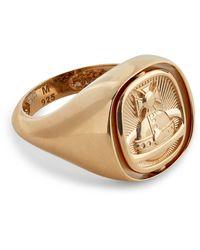 Vivienne Westwood Gold-tone Sterling Silver Orb Signet Ring - Metallic