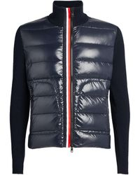 Moncler Quilted Zip-up Cardigan - Blue