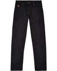 BOSS - Dark Wash Regular Fit Jeans - Lyst