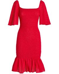 Marysia Swim Crete Smocked Dress - Red