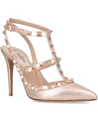 Valentino - Leather Rockstud Pumps 100 - Lyst