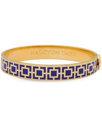 Halcyon Days - Gold Plated Mosaic Bangle - Lyst