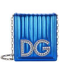 d0d8bdad24 Dolce   Gabbana - Dg Girls Metallic Leather Cross Body Bag - Lyst