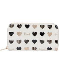 Harrods Glitter Hearts Wallet - Multicolour