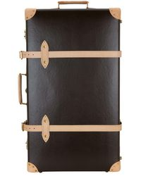 """Globe-Trotter Safari 33"""" Extra Deep Suitcase With Wheels - Brown"""