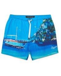 Ermenegildo Zegna Capri Print Swim Shorts - Blue