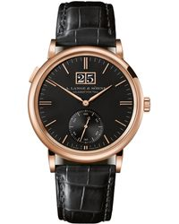 A. Lange & Sohne Rose Gold Saxonia Outsize Date Watch 38.5mm - Black
