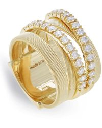 Marco Bicego - Yellow Gold And Diamond Five Strand Masai Ring - Lyst