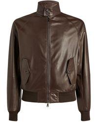 Ralph Lauren Purple Label Leather Jacket - Brown