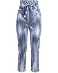 Thierry Colson Vania Cotton Pajama Bottoms - Blue