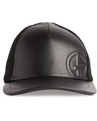 Giorgio Armani Logo Embossed Baseball Cap - Black