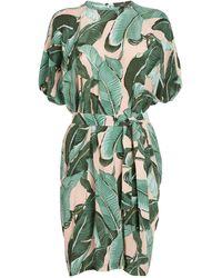 Weekend by Maxmara - Silk Botanical Print Dress - Lyst
