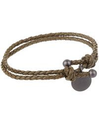 Bottega Veneta - Leather Intrecciato Bracelet - Lyst