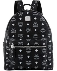 MCM | Small Stark Backpack, White, One Size | Lyst