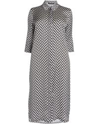Marina Rinaldi Chevron Print Shirt Dress - Multicolour