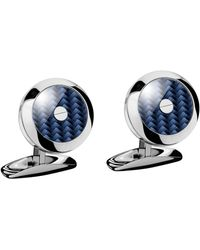 Chopard Stainless Steel And Carbon Fiber Classic Racing Cufflinks - Blue