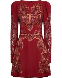 Zuhair Murad Embroidered Mini Dress