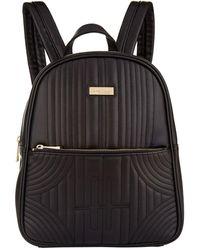 Harrods Primrose Quilted Backpack - Black