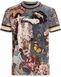Dolce & Gabbana - Geisha Print T-shirt - Lyst