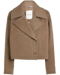 LE 17 SEPTEMBRE Wide-collar Jacket - Brown