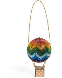 Judith Leiber Crystal-embellished Hot Air Balloon Clutch Bag - Green