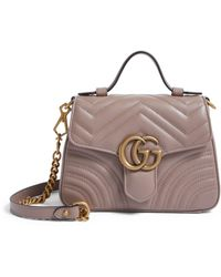 Gucci Mini Leather Marmont Top-handle Bag - Multicolor