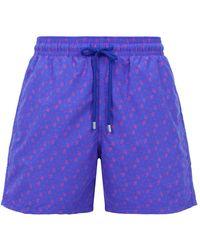 Vilebrequin - Moorea Micro Turtle Print Swim Shorts - Lyst