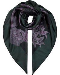 Valentino Silk Rose Garden Scarf - Black