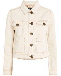 ME+EM Cropped Denim Jacket - White
