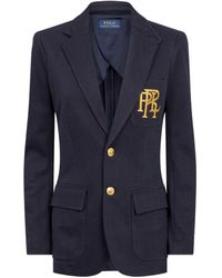Polo Ralph Lauren Knitted Cotton Blazer - Blue