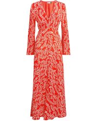 RIXO London Sonia Midi Dress - Red