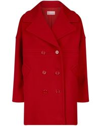 RED Valentino - Double-breasted Cocoon Coat - Lyst