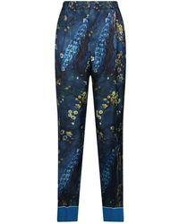 F.R.S For Restless Sleepers - Peacock Silk Trousers - Lyst