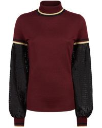 Amanda Wakeley - Sheer Sleeve Sweater - Lyst