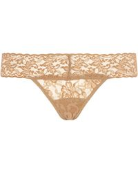 Hanky Panky Low-rise Lace Thong - Natural