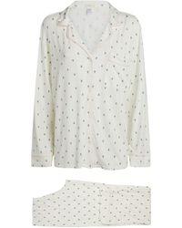 Eberjey Printed Gisele Pyjama Set - White
