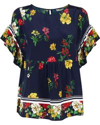 Joie - Ayako Floral Print Blouse - Lyst