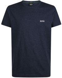 BOSS Green - Tee Navy Crew Neck T-shirt - Lyst