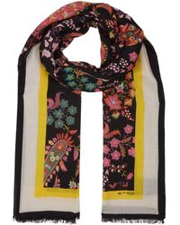 Etro - Cashmere Floral Paisley Scarf - Lyst