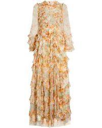 Needle & Thread Sunset Garden Gown - White