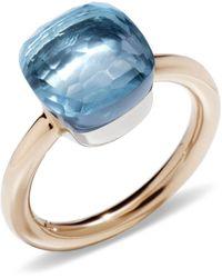 Pomellato Nudo Blue Topaz Classic Ring
