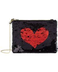 Harrods Exmoor Sequin Heart Chain Bag - Red