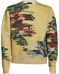 Dunhill Wool Abstract Florals Sweatshirt - Yellow