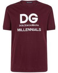 Dolce & Gabbana - Dg Millennials T-shirt - Lyst