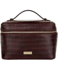 Harrods Battersea Cosmetic Bag - Brown