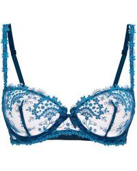 Simone Perele Half Cup Lace Bra - Blue