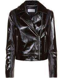 ESCADA Patent Biker Jacket - Black